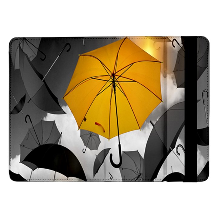 Umbrella Yellow Black White Samsung Galaxy Tab Pro 12.2  Flip Case