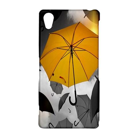 Umbrella Yellow Black White Sony Xperia Z2