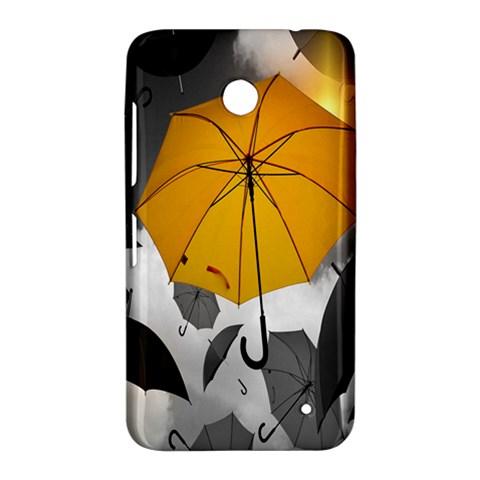 Umbrella Yellow Black White Nokia Lumia 630