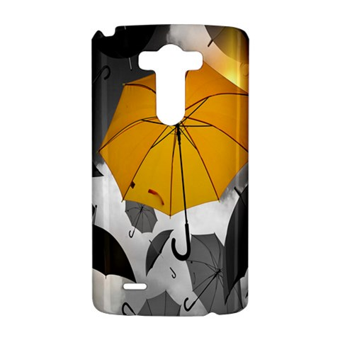 Umbrella Yellow Black White LG G3 Hardshell Case