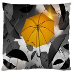 Umbrella Yellow Black White Standard Flano Cushion Case (One Side) Front