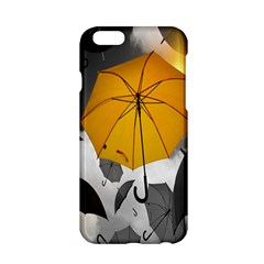 Umbrella Yellow Black White Apple iPhone 6/6S Hardshell Case