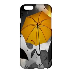 Umbrella Yellow Black White Apple iPhone 6 Plus/6S Plus Hardshell Case