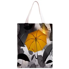 Umbrella Yellow Black White Classic Light Tote Bag
