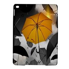 Umbrella Yellow Black White iPad Air 2 Hardshell Cases
