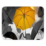 Umbrella Yellow Black White Double Sided Flano Blanket (Large)  80 x60 Blanket Front