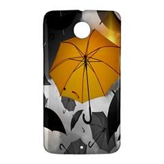 Umbrella Yellow Black White Nexus 6 Case (White)