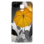 Umbrella Yellow Black White Galaxy Note 4 Back Case Front