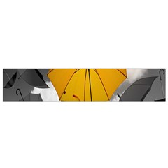 Umbrella Yellow Black White Flano Scarf (Small)