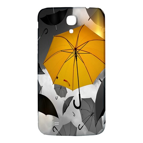 Umbrella Yellow Black White Samsung Galaxy Mega I9200 Hardshell Back Case