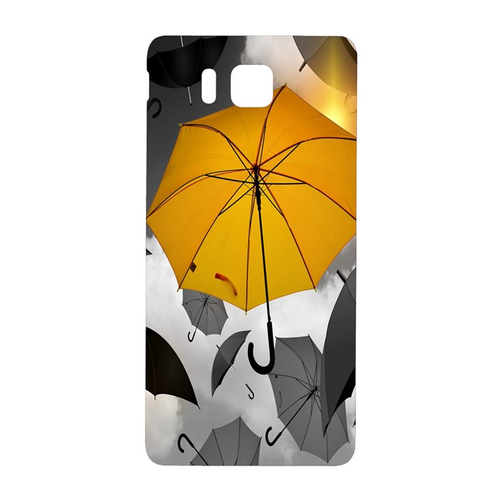 Umbrella Yellow Black White Samsung Galaxy Alpha Hardshell Back Case
