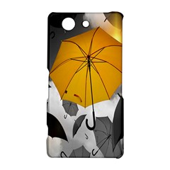 Umbrella Yellow Black White Sony Xperia Z3 Compact