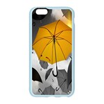 Umbrella Yellow Black White Apple Seamless iPhone 6/6S Case (Color) Front