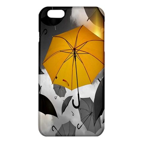 Umbrella Yellow Black White iPhone 6 Plus/6S Plus TPU Case