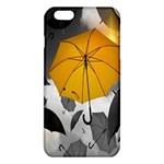 Umbrella Yellow Black White iPhone 6 Plus/6S Plus TPU Case Front
