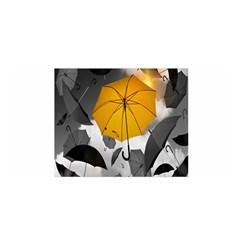 Umbrella Yellow Black White Satin Wrap