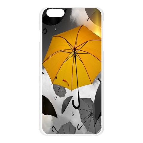 Umbrella Yellow Black White Apple Seamless iPhone 6 Plus/6S Plus Case (Transparent)