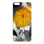 Umbrella Yellow Black White Apple Seamless iPhone 6 Plus/6S Plus Case (Transparent) Front
