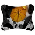 Umbrella Yellow Black White Jigsaw Puzzle Photo Stand (Bow) Front