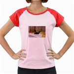 French Bulldog Peeking Puppy Women s Cap Sleeve T-Shirt Front