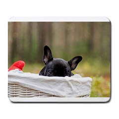 French Bulldog Peeking Puppy Large Mousepads