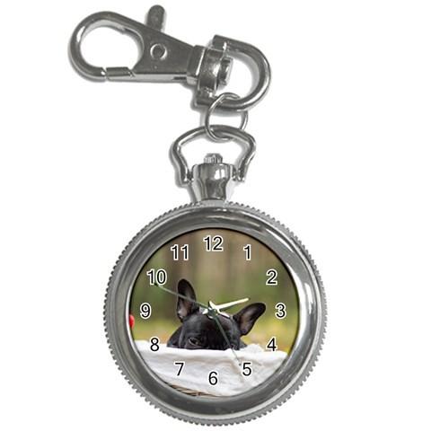 French Bulldog Peeking Puppy Key Chain Watches