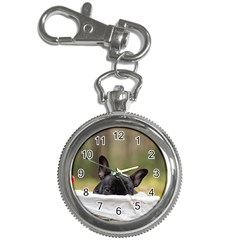 French Bulldog Peeking Puppy Key Chain Watches