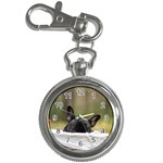French Bulldog Peeking Puppy Key Chain Watches Front
