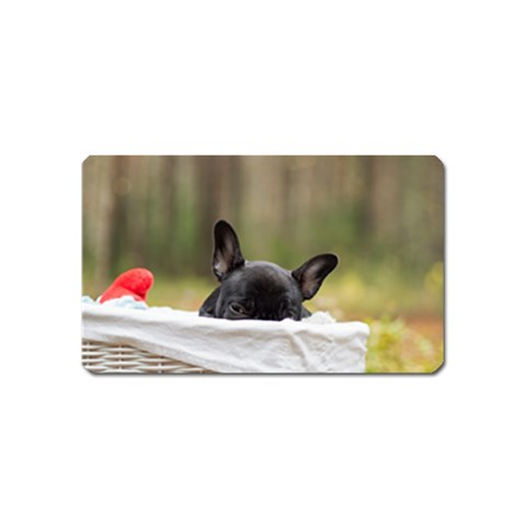 French Bulldog Peeking Puppy Magnet (Name Card)