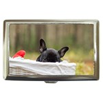 French Bulldog Peeking Puppy Cigarette Money Cases Front