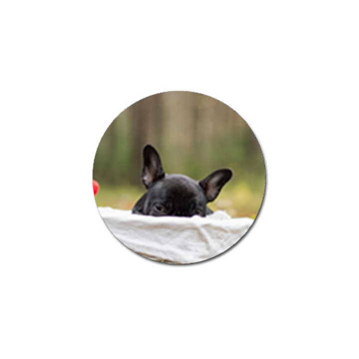 French Bulldog Peeking Puppy Golf Ball Marker