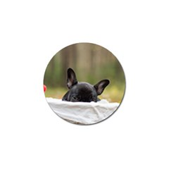 French Bulldog Peeking Puppy Golf Ball Marker (4 pack)