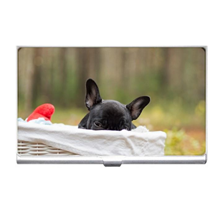 French Bulldog Peeking Puppy Business Card Holders