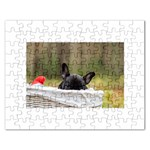 French Bulldog Peeking Puppy Rectangular Jigsaw Puzzl Front