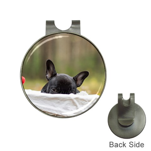 French Bulldog Peeking Puppy Hat Clips with Golf Markers