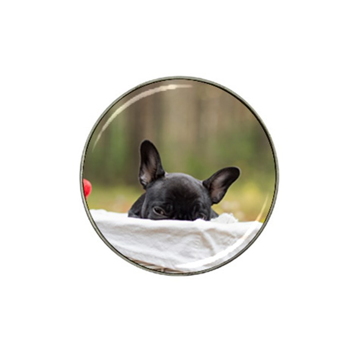 French Bulldog Peeking Puppy Hat Clip Ball Marker (4 pack)