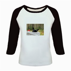 French Bulldog Peeking Puppy Kids Baseball Jerseys