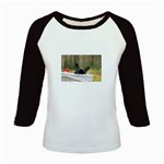 French Bulldog Peeking Puppy Kids Baseball Jerseys Front