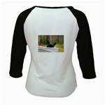 French Bulldog Peeking Puppy Kids Baseball Jerseys Back