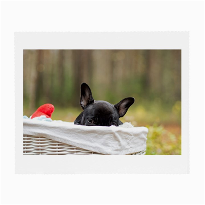 French Bulldog Peeking Puppy Small Glasses Cloth