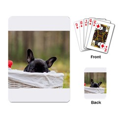 French Bulldog Peeking Puppy Playing Card