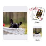French Bulldog Peeking Puppy Playing Card Back