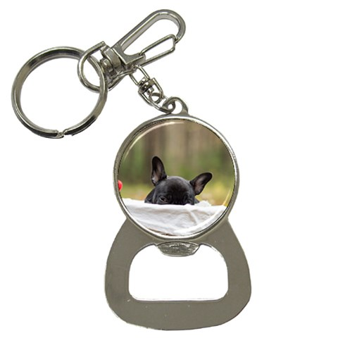 French Bulldog Peeking Puppy Bottle Opener Key Chains