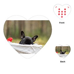 French Bulldog Peeking Puppy Playing Cards (Heart)