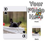 French Bulldog Peeking Puppy Playing Cards 54 Designs  Front - Spade10