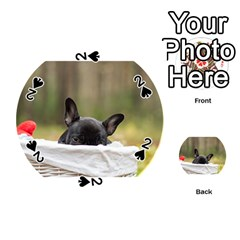 French Bulldog Peeking Puppy Playing Cards 54 (Round)