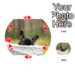 French Bulldog Peeking Puppy Playing Cards 54 (Round)  Front - Heart4