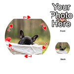 French Bulldog Peeking Puppy Playing Cards 54 (Round)  Front - Heart7