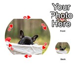 French Bulldog Peeking Puppy Playing Cards 54 (Round)  Front - Heart9