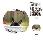 French Bulldog Peeking Puppy Playing Cards 54 (Round)  Front - Joker1